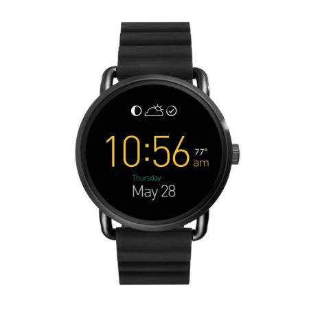 Fossil Q Wander 觸控式螢幕配黑色矽膠錶帶(FTW2103),NT$10,500