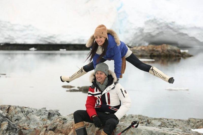 早知道跟我在一起,不僅要去南極走透透,還要去極地冰水裡游泳,George 恐怕會打退堂鼓