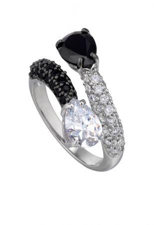 Air-Flux燭光流曳系列黑白晶鑽戒指 NT$11,000