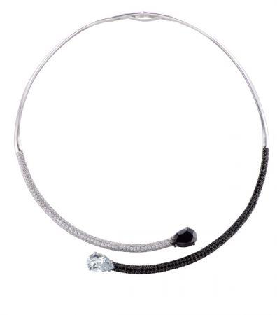 Air-Flux燭光流曳系列黑白晶鑽項鍊 NT$75,000