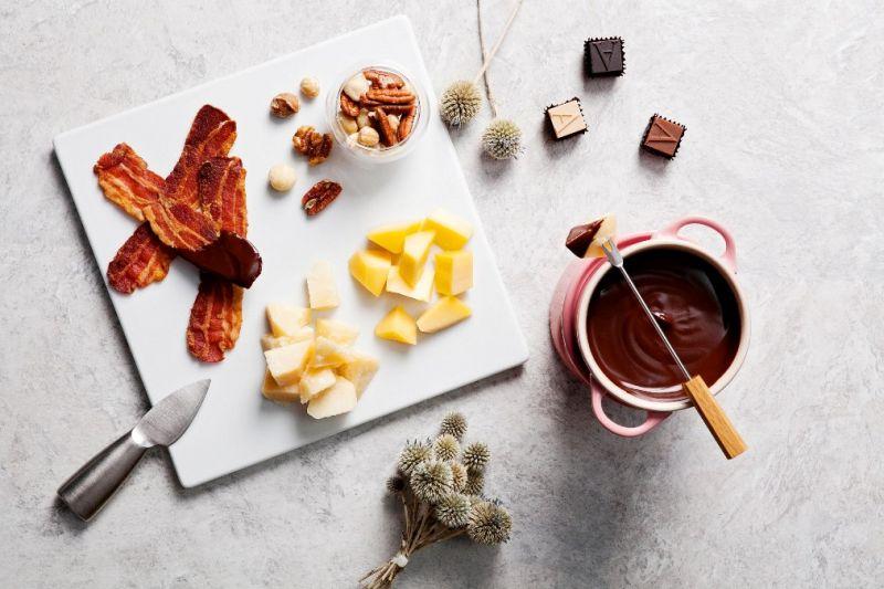 【ARMANI/DOLCI頂級巧克力鍋】佐培根及起司