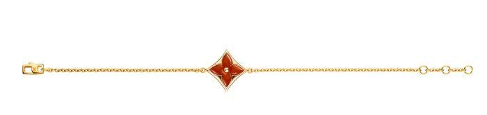 Louis Vuitton Blossom珠寶系列Color Blossom紅玉髓手鍊 Q95489 TWD$99,500