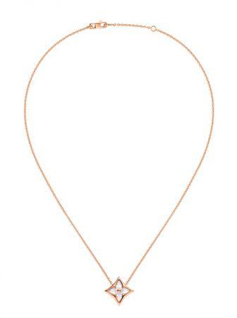 Louis Vuitton Blossom珠寶系列Color Blossom白彩珍珠母貝項鍊 Q93521 TWD$97,000