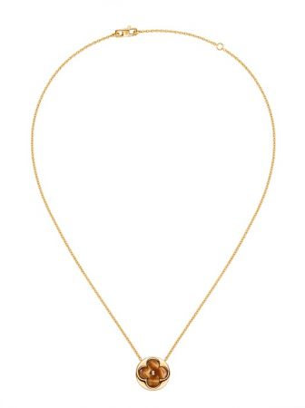 Louis Vuitton Blossom珠寶系列Color Blossom虎眼石項鍊 Q93593 TWD$109,000