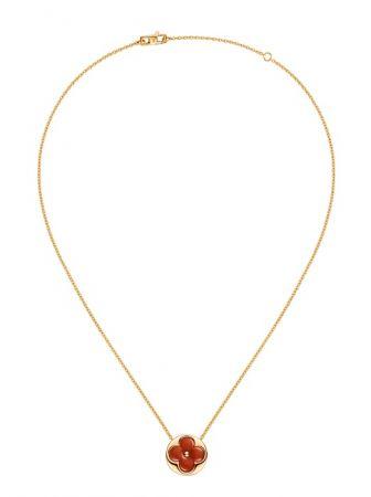 Louis Vuitton Blossom珠寶系列Color Blossom紅玉髓項鍊 Q93591 TWD$109,000