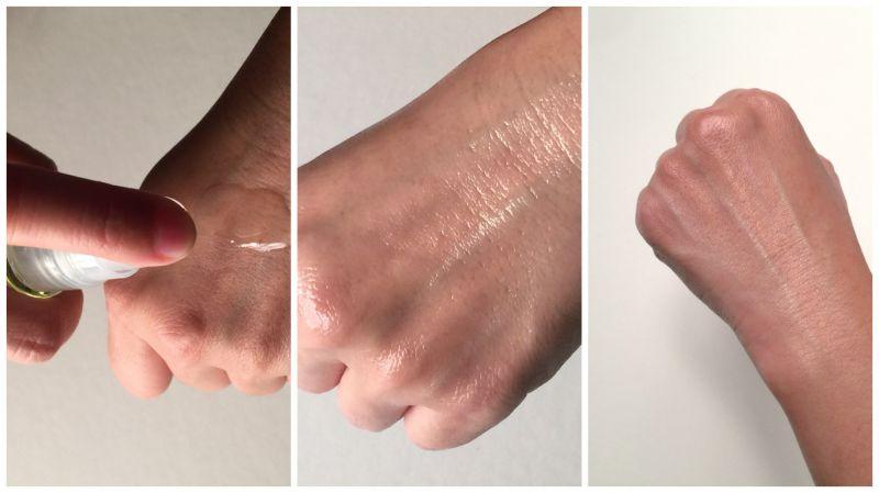 剛塗擦時會覺得偏油膠感,但按摩吸收後膚觸無比柔嫩。