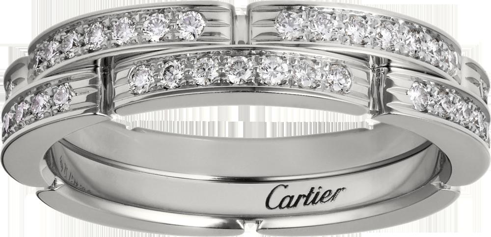 卡地亞 Maillon Panthère 系列白K金鑽石戒指