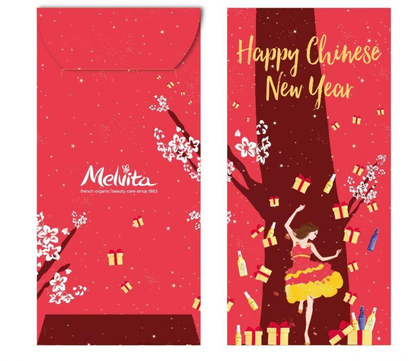 Melvita推出了與西班牙插畫家Sandra Suy特別為亞洲設計的插畫紅包。