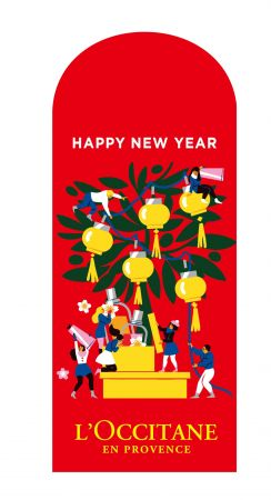 L'Occitane與法國插畫家Virginie Morgand,這次以「張燈結綵,慶賞佳節」為主題設計出紅包袋。