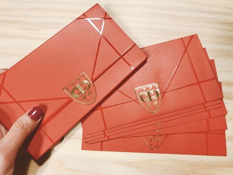 Dior今年的紅包袋一樣是奇貨可居,做工精美可以稱冠紅包界。