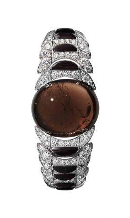 卡地亞 L'Odyssée de Cartier 頂級珠寶系列凸圓形切割棕色碧璽手環