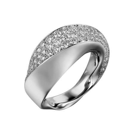卡地亞 Coup d'Eclat 系列白K金鑽石戒指