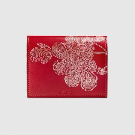 GUCCI新年限定花卉印花短夾 NT $14,900