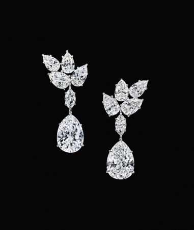 海瑞溫斯頓1967年骨董 Cluster鑽石耳環
