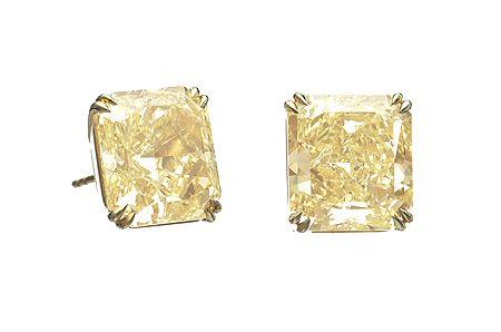 海瑞溫斯的黃鑽耳環