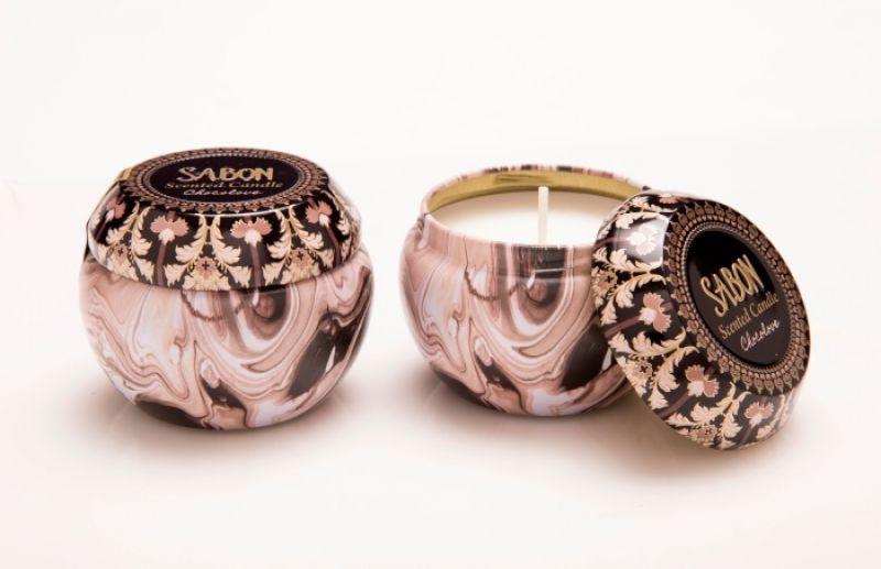 SABON愛戀巧克力錫盒蠟燭Candle Tin Box 100g /NT$580