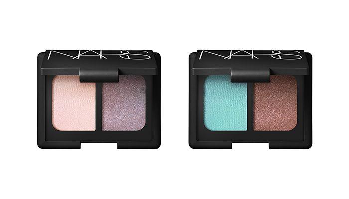 NARS雙色眼影 NT $ 1,200#閃耀海藍和銅色(限量)#彩虹貝殼粉和彩虹煙燻紫