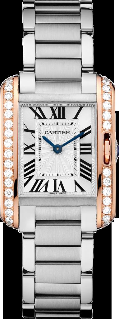 最新上市作品Tank Anglaise腕錶,小型款