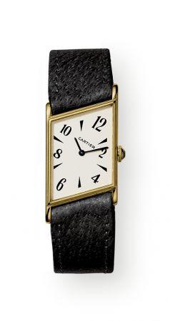 1936年,TANK Asymétrique不對稱坦克腕錶