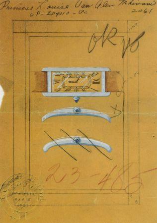 TANK Américaine美國坦克腕錶設計草稿圖.