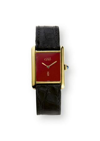 1977年,TANK Must de Cartier坦克腕錶