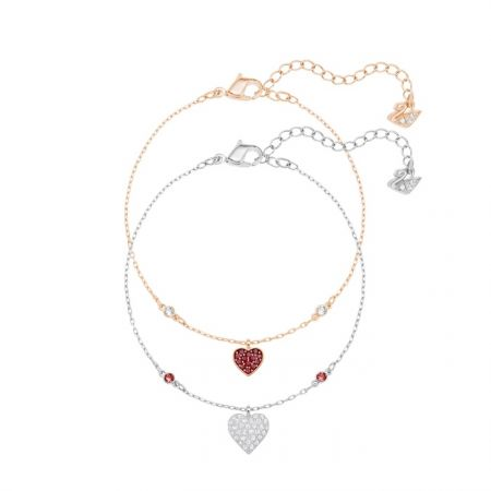 Crystal Wishes Heart 手鏈 套裝, 紅色 NT$4,490