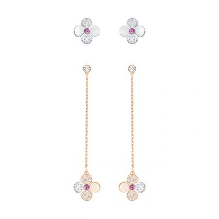 Glowing Clover 穿孔耳環, 白色 NT$5,990