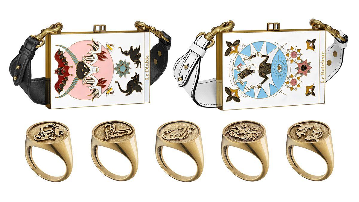 塔羅牌手拿包、十二星座戒指…充滿魔幻魅力的Dior 2017春夏配件!