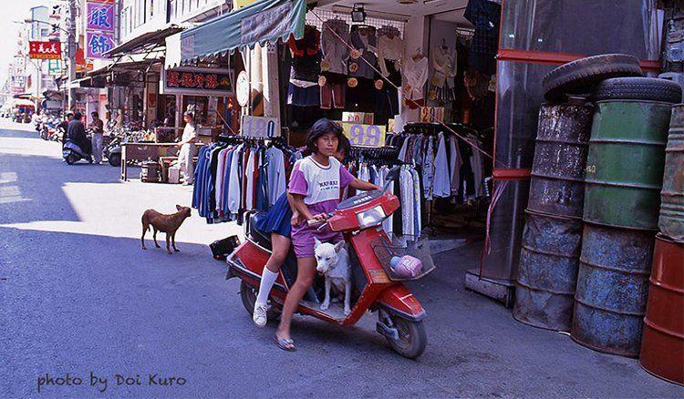Dog on a scooter 鹿港1993