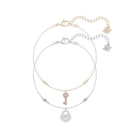 Crystal Wishes Key 手鏈 套裝, 粉紅色 NT$4,490