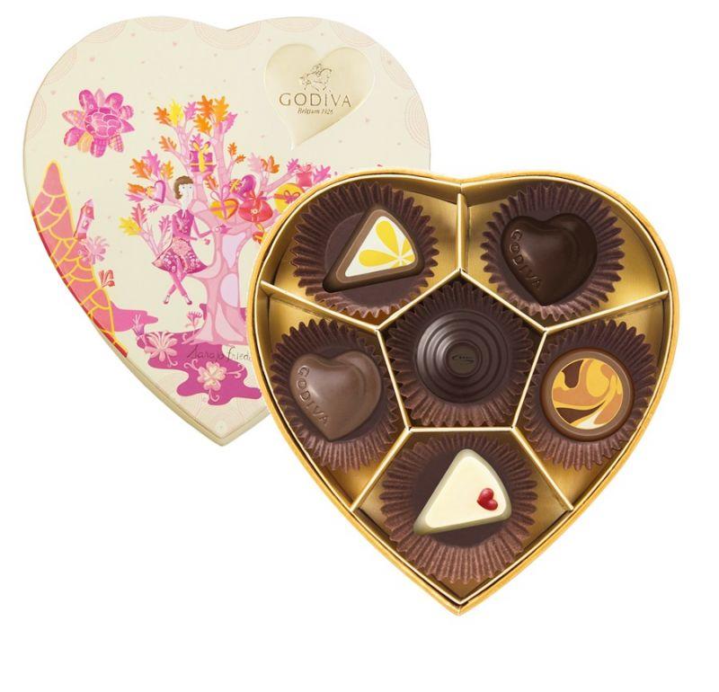 情人節巧克力心形禮盒6顆裝 NT$1150