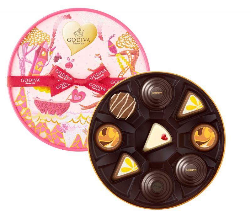 情人節巧克力圓形禮盒9顆裝 NT$1,450