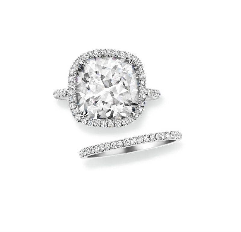 海瑞溫斯頓The One系列枕形切工鑽石戒指、海瑞溫斯頓 The One系列鑽石線戒