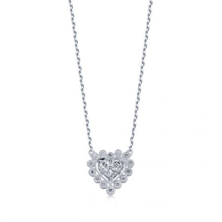 點睛品 Lady Heart「Pure」18K白金鑽石頸鍊 NT$31,600