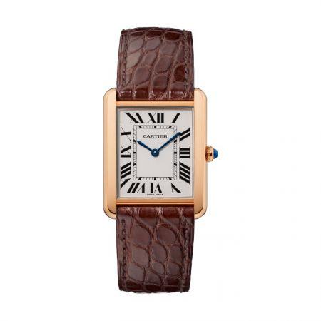 卡地亞 TANK Solo系列玫瑰金精鋼腕錶,NTD 143,000