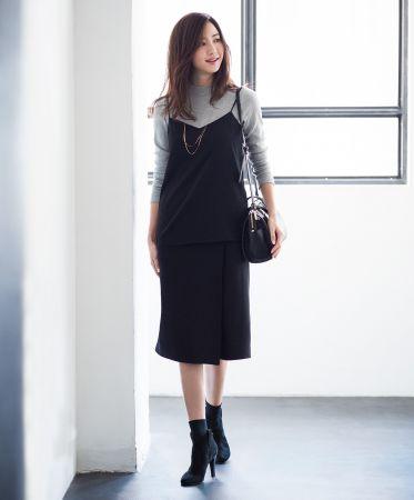 女裝羅紋中高領T恤(長袖) NT$390