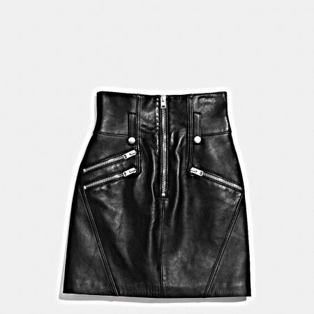 高腰黑皮裙TWD 29,800