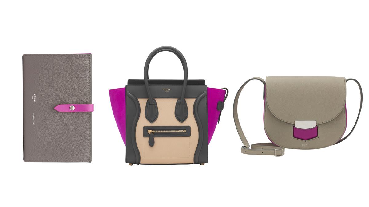 粉彩色太可愛,灰、黑、白太冷調,CÉLINE的桃紫色是知性女孩的情人節禮物首選!