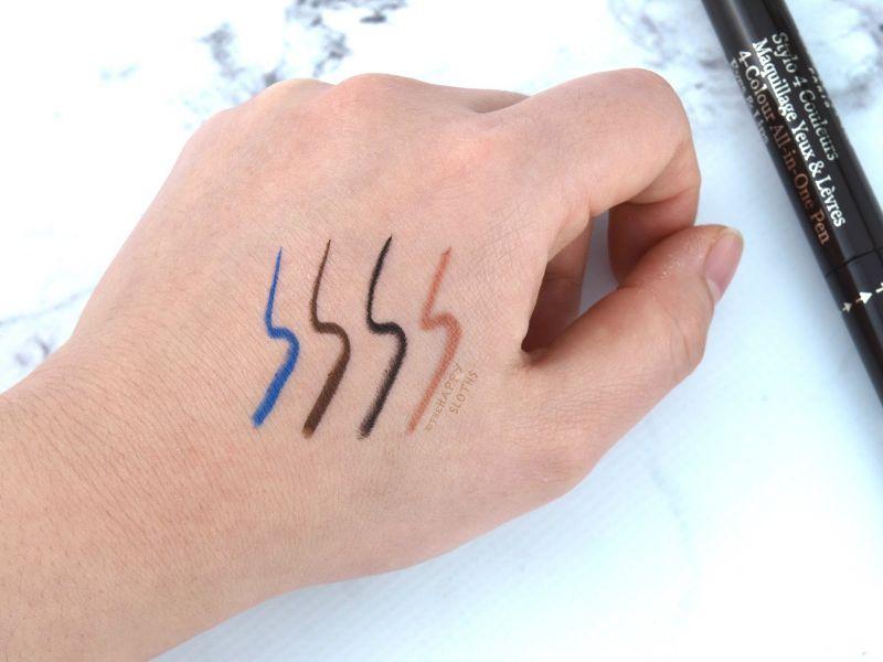 克蘭詩四色筆的顏色非常實用,如果可以自己選擇,比較希望是2隻眼線筆與2隻唇線筆選擇。