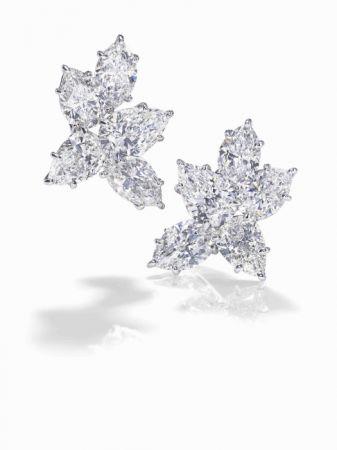 海瑞溫斯頓經典Cluster鑽石耳環(史嘉蕾·喬韓森配戴)