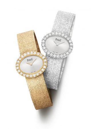 Traditional橢圓形腕錶18K白金錶殼,鑲嵌24顆圓形美鑽(約重1.46克拉)「宮廷」細節裝飾錶鏈伯爵製56P石英機芯G0A40211 台幣參考價格1,880,000元Traditional橢圓形腕錶18K玫瑰金錶殼,鑲嵌24顆圓形美鑽(約1.46克拉)「宮廷」細節裝飾錶鏈伯爵製56P石英機芯G0A40212 台幣參考價格1,830,000元