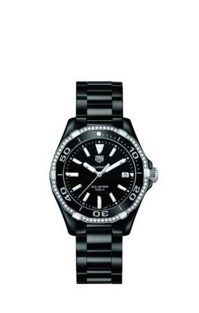 TAG Heuer Aquaracer防水300米陶瓷鑽錶 WAY1395.BH0716 建議售價NT$127,100(Bella Hadid代言款)