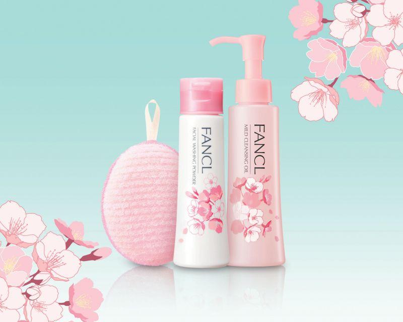 FANCL櫻花限量版 MCO速淨卸粧液 及 淨膚柔滑潔顏粉