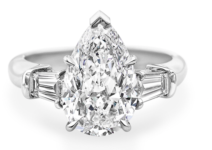 Harry Winston海瑞溫斯頓經典Cluster水滴形切工鑽石戒指