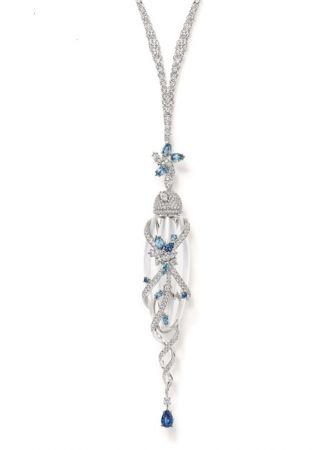 海瑞溫斯頓綺隱Secret Cluster系列香水瓶彩色寶石鑽石項鍊