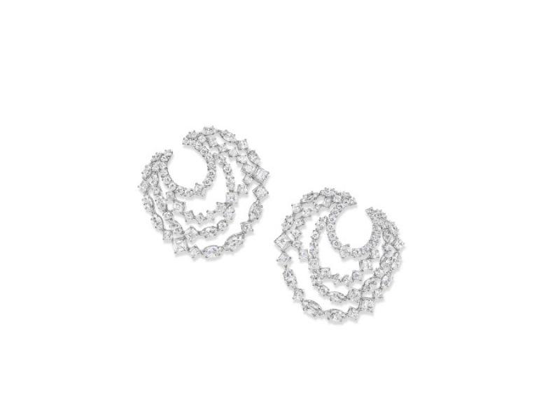 海瑞溫斯頓綺隱Secret Combination系列鑽石耳環