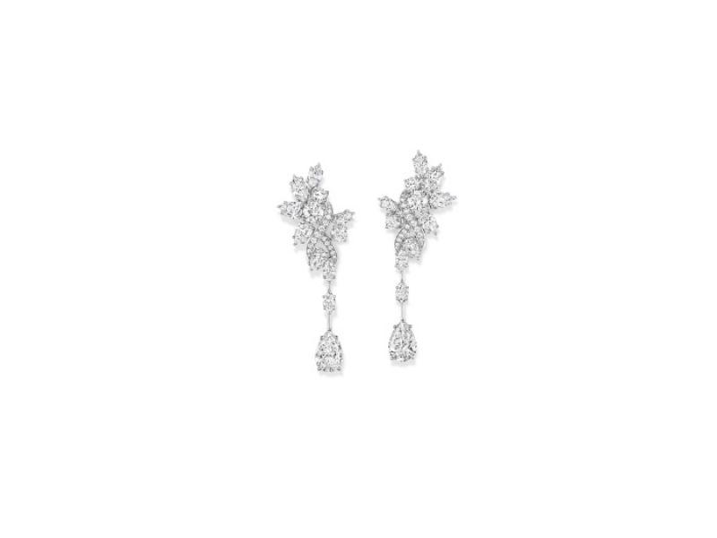 海瑞溫斯頓綺隱Secret Cluster系列鑽石耳環