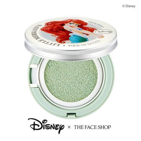 THE FACE SHOP DISNEY系列美肌亮顏飾底氣墊(小美人魚款)15g,NT980