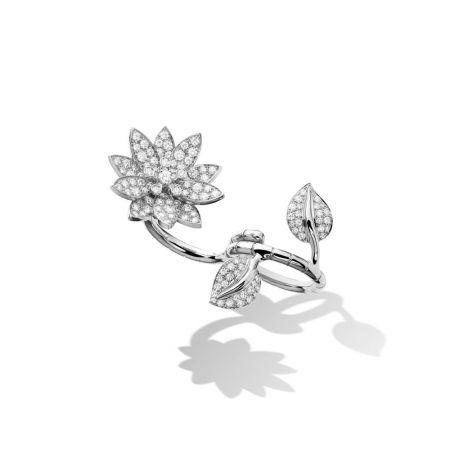 Lotus 白K金鑲鑽指間戒,Van Cleef & Arpels。