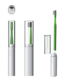 電動牙刷預計將於7月在台灣首度上市,未來顧客只要將MUJI無印良品販售的牙刷安裝在專屬的音波震動器上,就能作為音波震動牙刷使用。此外,附蓋設計,也能於外出時攜帶,輕巧不佔空間。(預計7月上市)